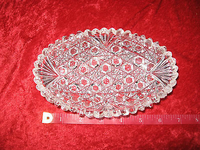 Older  Cut Glass Oval Shape Dish