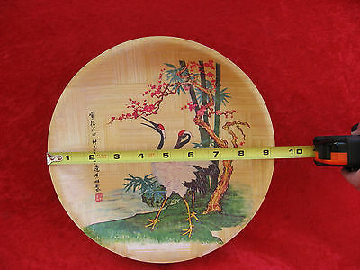 """Older   Six  Bamboo  9""""  Plates  Made In Taiwan"""