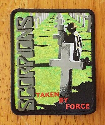 SCORPIONS Taken By Force black woven patch aufnäher limited edition hard rock