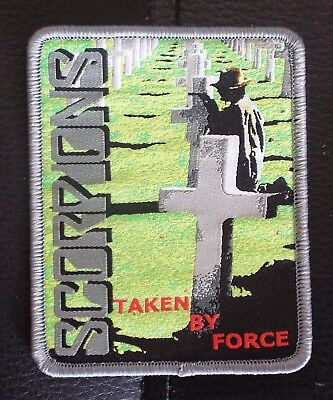 SCORPIONS Taken By Force Grey woven patch aufnäher limited edition hard rock