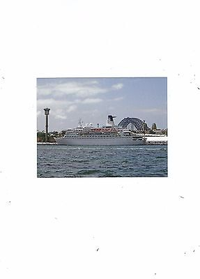 Postcard Of The Old Princess Ship Of Tv Fame Love Boat Became Discovery