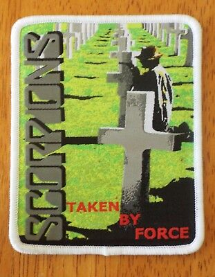 SCORPIONS Taken By Force White woven patch aufnäher limited edition hard rock
