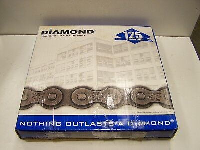 10' Diamond C2060H Riveted Heavy Double Pitch Roller Conveyor Class Chain New
