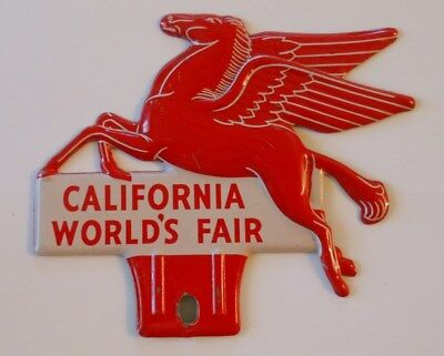 Vintage California World's Fair Pegasus Topper - License Plate - Booklet