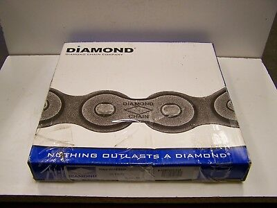 10' Diamond 2060 Riveted Double Pitch Roller Chain New