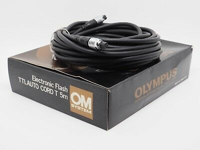Olympus OM Electronic Flash TTL Auto Cord T 5m - Tested Working