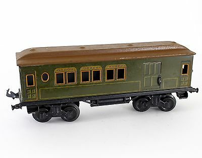 Bing Gauge 1 Green Passenger Baggage Coach Unmarked, Unnumbered RARE