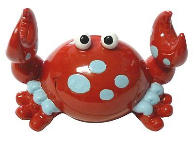 Bobble Claw Crab Coin Piggy Bank Red with Dots and Claws that Wiggle