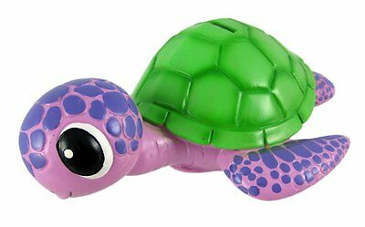 Bobble Head Turtle Coin Bank, Pink and Purple