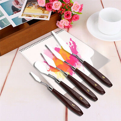 5PCS/set Stainless Steel  Art Supplies Palette Scraper Spatula for Oil Painting