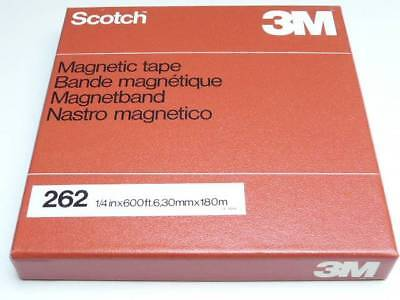 "Scotch 3M 262 Magnetic Audio Tape 1/4"" 600ft 73.0264"