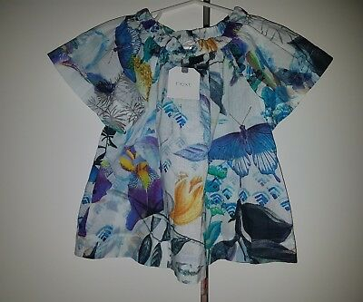 ***NEXT BNWT baby girl printed blouse size 1.5/2 years