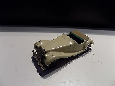 scalextric VINTAGE SCALEX MG TF 1950 RARE TINPLATE FRICTION TOY CAR CREAM GREEN