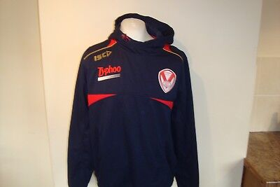 St Helens Saints Rugby League Club ISC Hoodie Track Top Large Mens