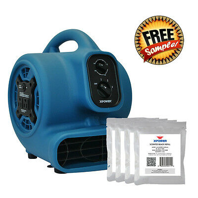 XPOWER P-250AT Scented Air Mover Carpet Dryer Fan+ Free Sample Freshener Beads