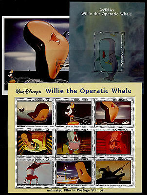 Dominica 1631-3 MNH Disney, Willie the Operatic Whale (cr)