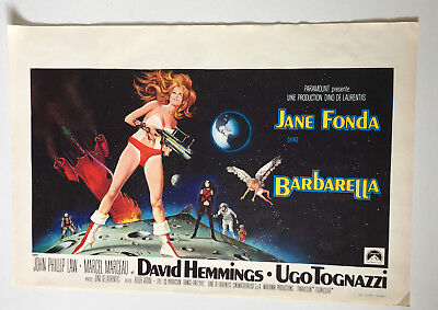BARBARELLA 1968 Original Vintage Belgian Movie Film Poster Jane Fonda