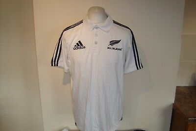 New Zealand All Blacks Rugby Union Polo Shirt Large Mens