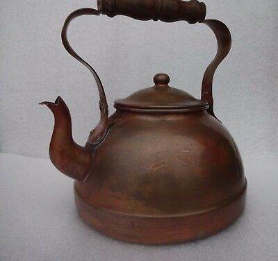 Vintage Copper Kettle Folding Handle Tagus Made In Portugal Display Item
