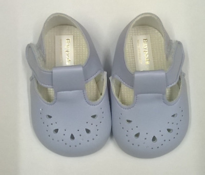 Baypods Baby Blue Pram Shoes For Boys