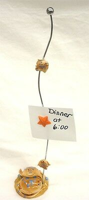 """Tan Stingray Magnetic Memo, Note Card or Photo Holder, Starfish Accent 14.75"""""""