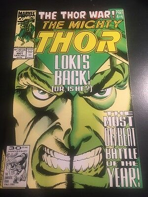 "Mighty Thor#441 Incredible Condition 9.4(1991) Loki,""Thor War"" Frenz Art!!"