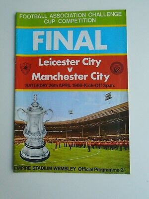 1969 FA Cup Final Leicester City v Manchester City Programme