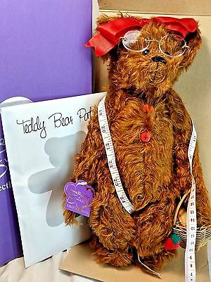 "Annette Funicello Seamstress Sewing Bea R. Maker 15"" Jointed Bear + Pattern MIB"