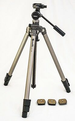Velbon Sherpa 250R 3-Section Tripod With PH157Q video head With 3x Quick Release