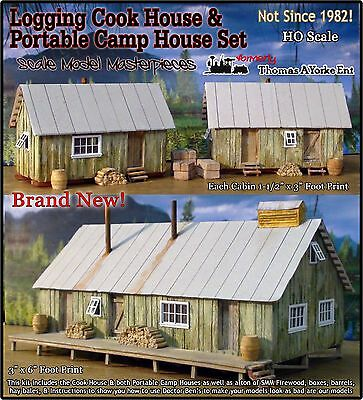 Logging Camp Cook House & Portable Cabin House Set Scale Model/Yorke HOn30 *NEW*