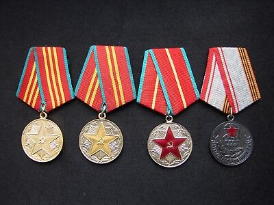 Russian Soviet Army 10 15 20 Years Excellent Service Medal Medals USSR