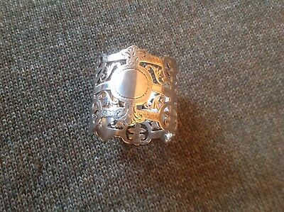 Stunning Sterling Silver Antique napkin ring,London1900.44gm. Pierced Art Nouvea