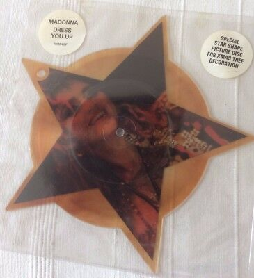 MADONNA - Brown Dress You Up  Shaped Picture Disc PLEASE SEE PHOTOS/DESCRIPTION