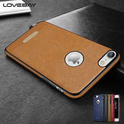 ORIGINAL Ultra-Thin Leather Silicone Back Case Cover For iPhone 6 6S 7 Plus 5 SE