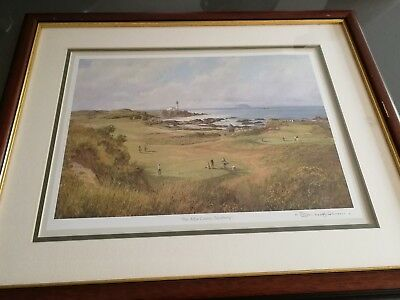 The Ailsa Course Turnberry Framed Golf Print Signed Donald M Shearer