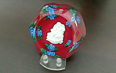 St. Louis Art Glass Paperweight!!! Vintage!! Breathtaking!! Amour Fast Shipping