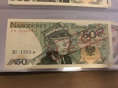 Poland Banknotes 50 Zlotych UNC