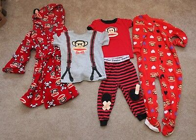 VGUC Small Paul Frank Baby 2T Toddler 24 month mix lot robe pjs shirt FREE SHIP
