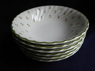 6x Laura Ashley | Thistle | Small Cereal Bowls | Johnson Brothers