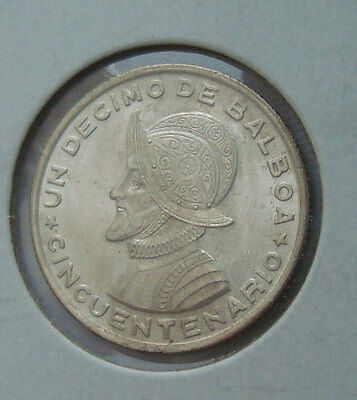 Panama 1953 Media Balboa .900 Silver Commemorative 50 Years Republic UNC