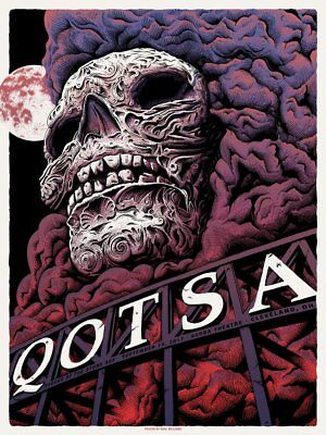 Queens of the Stone Age Poster Cleveland OH 9/15/17 QOTSA Villains Signed Print