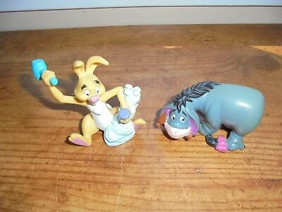 Disney Winnie the Pooh EEYORE & RABBIT PVC Plastic Figurines Toys Collectible