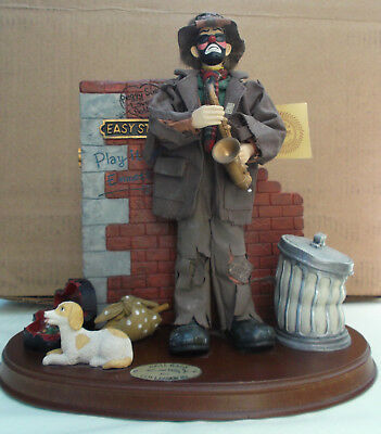 Emmett  Kelly Jr. Real Rags Music Box Collection Vintage 1996 - Pre-owned