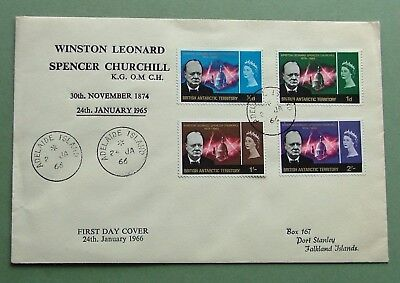 British Antarctic Territory.1966 - Churchill Comm. Fdc(Complete Set) - Ex. Cond.