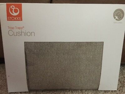Stokke Tripp Trapp High Chair Cushion Hazy Tweed Design (Chair Not Included)