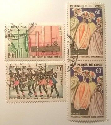 Congo Stamps - 1964 -  Lot Of 4 - Used