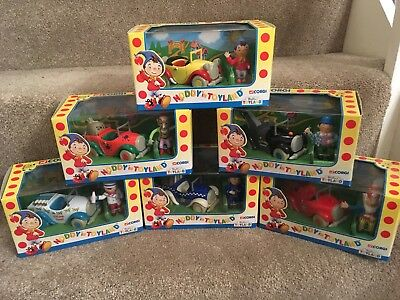 """Complete Set Of 6 """"Noddy in Toyland"""" Corgi Collectible Toys- All Mint With Boxes"""