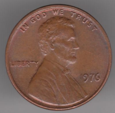 United States 1 Cent 1976 Bronze Coin - Lincoln Memorial