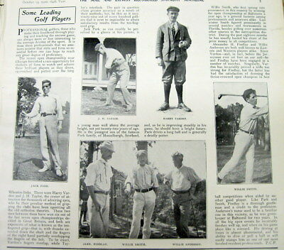 2 1900 illustrated newspapers w6 photos famous EARLY GOLFERS Vardon WILLIE SMITH
