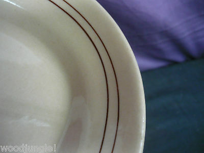 Vintage ART DECO WALLACE CHINA DESERT WARE PLATTER RESTAURANT RINGS STRIPES